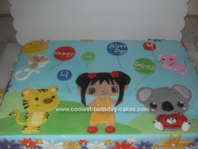 Homemade Kai Lan Birthday Cake