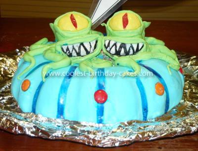 Homemade Kang and Kodos Birthday Cake