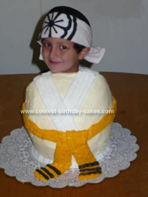 Homemade  Karate Birthday Cake
