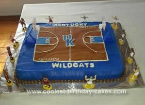 Marvelous Coolest Kentucky Basketball Court Cake Funny Birthday Cards Online Kookostrdamsfinfo