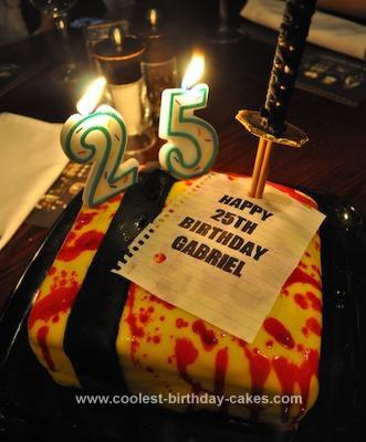 Homemade Kill Bill Themed Birthday Cake