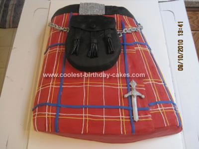 Homemade Kilt Cake