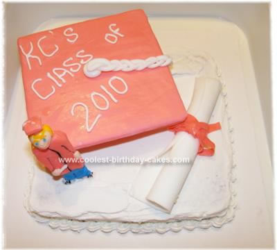 Homemade Kindergarten Graduation Cake