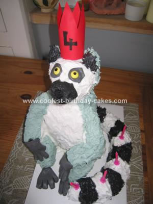 Homemade King Julian Lemur Cake