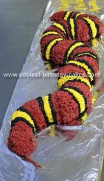 Homemade King Snake Cake