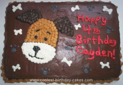 Homemade Kipper The Dog Cake