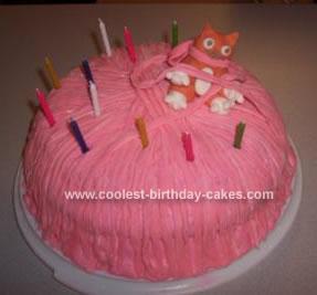 Homemade Kitten Cake