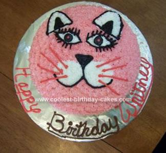 Homemade Kitty Cat Cake
