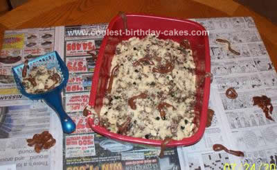 Homemade Kitty Litter Cake