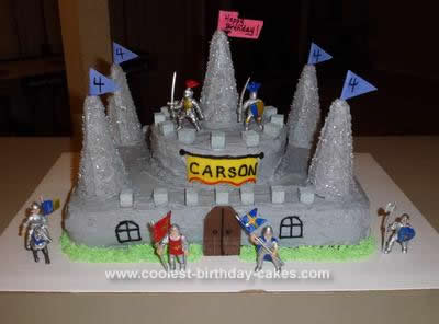 Cool Coolest Knight Castle Cake Funny Birthday Cards Online Eattedamsfinfo