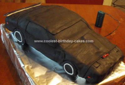 Homemade Knight Rider KITT Cake