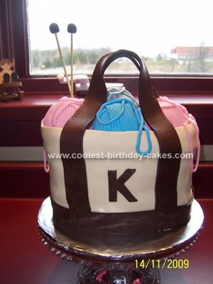 Homemade Knitting Bag Cake