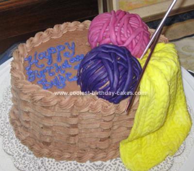 Homemade Knitting Birthday Cake