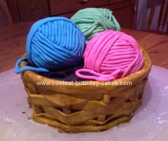 Coolest Homemade Knitting Cakes