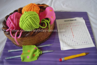 Homemade Knitting Cake