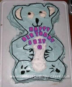 Homemade Koala Bear Cake