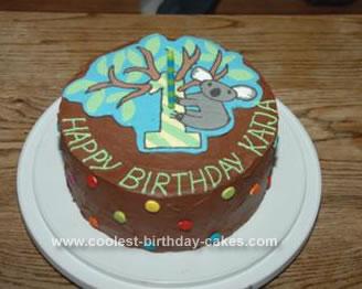 Terrific Cool Homemade Koala Cake Funny Birthday Cards Online Hetedamsfinfo
