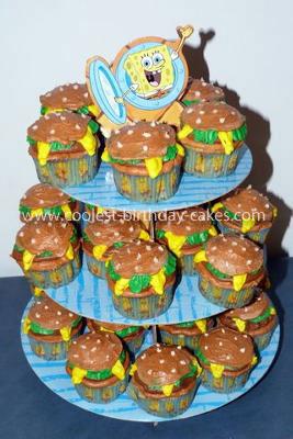 Krabby Patty Cupcakes