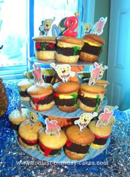Homemade Krabby Patty Cupcakes