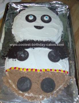 Homemade Kung Fu Panda Bear Cake