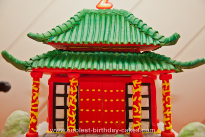 Homemade Kung Fu Panda Cake
