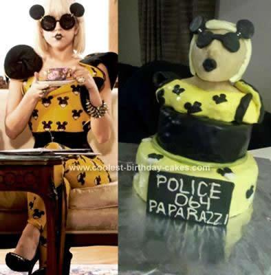 Homemade Lady Gaga Birthday Cake