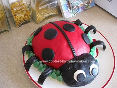 Peachy Coolest Ladybug 1St Birthday Cake Personalised Birthday Cards Cominlily Jamesorg