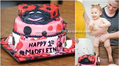 Remarkable Coolest Ladybug Birthday Cake Personalised Birthday Cards Cominlily Jamesorg