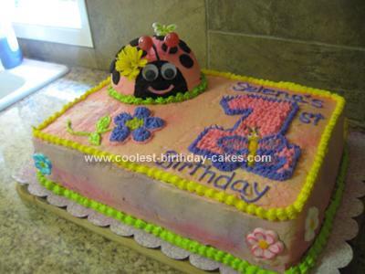 Terrific Coolest Ladybug First Birthday Cake Personalised Birthday Cards Cominlily Jamesorg