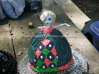 Homemade Lagoona Monster High Birthday Cake