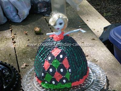 Homemade Lagoona Monster High Birthday Cake