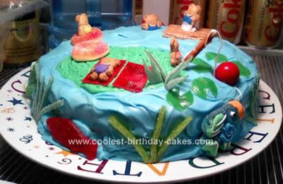 Homemade Lake Cake Design
