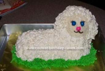 Homemade Wooly Lamb Cake