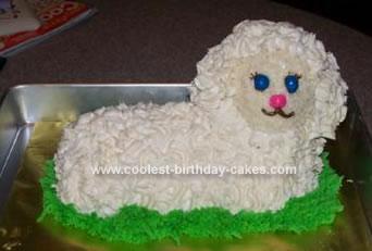 Homemade Wooly Lamb Cake