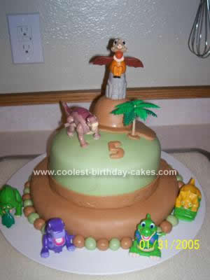 Homemade Land Before Time Cake Design