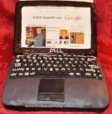 Coolest Laptop Cake