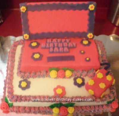 Homemade Laptop Cake