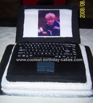 Fantastic Homemade Laptop Cake For 30Th Birthday Funny Birthday Cards Online Barepcheapnameinfo