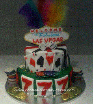 Homemade Las Vegas Birthday Cake Idea