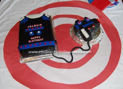 Homemade Laser Tag Cake