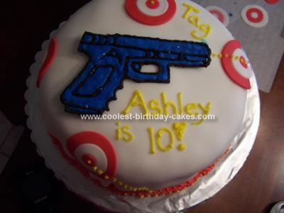 Homemade Laser Tag Cake