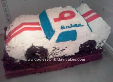 Homemade Model Modified Dirt Track Race Car Birthday Cake
