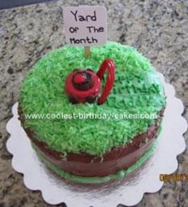 Homemade Lawn Mower Birthday Cake