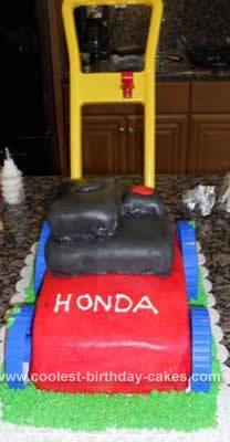 Homemade Lawn Mower Cake Idea