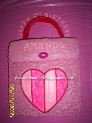 Homemade Lazy Town Purse Cake