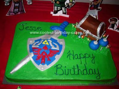 Astounding Coolest Legend Of Zelda Birthday Cake Funny Birthday Cards Online Elaedamsfinfo
