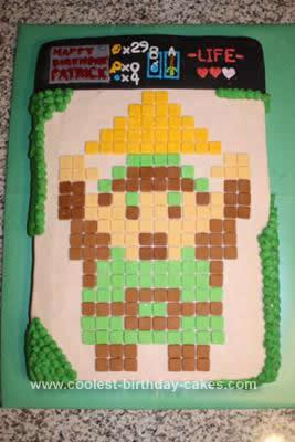 Homemade Legend of Zelda Birthday Cake