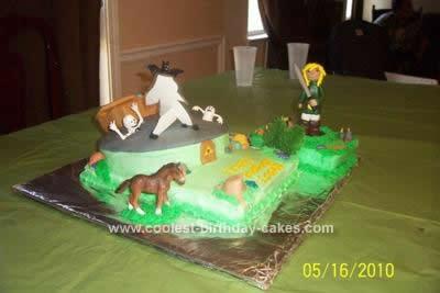 Homemade Legend Of Zelda Birthday Cake Design