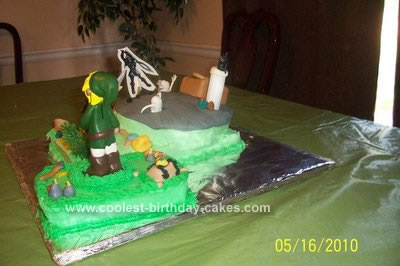 Homemade Legend of Zelda Birthday Cake Design