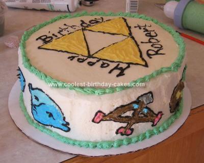 Homemade Legend of Zelda Cake